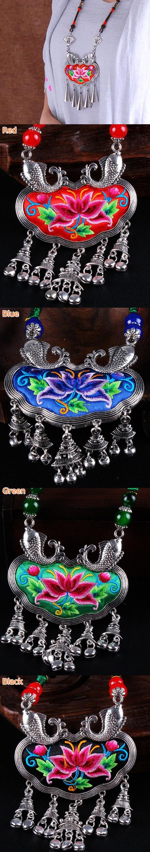 Handmade Ethnic Embroidery Necklace
