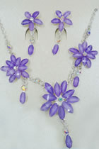 Necklace and Earrings Set (Multicolor)