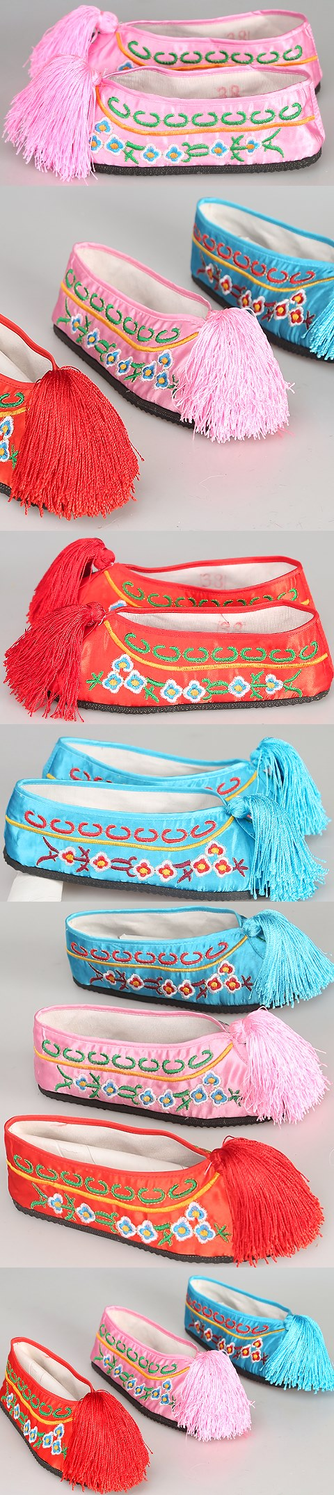 Tassel Embroidery Shoes (Multicolor)