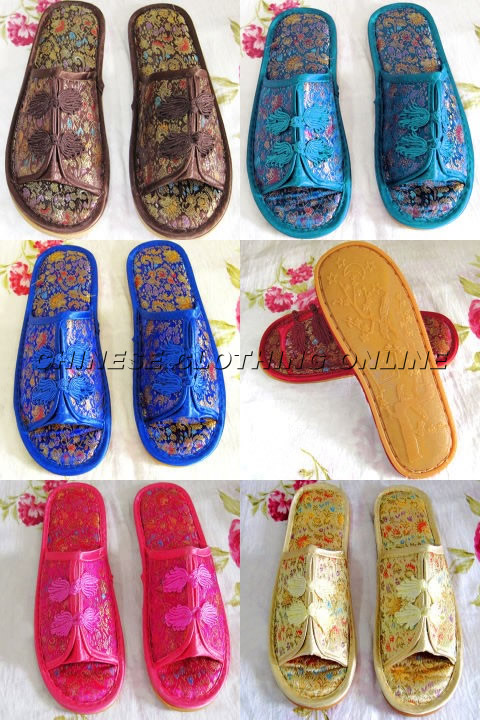 Comfortable Non-Slippery Brocade Slippers