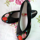 Mudan Peony Embroidery Shoes (Multicolor)