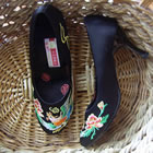 High Heel Dragon & Phoenix Embroidery Shoes (Multicolor)