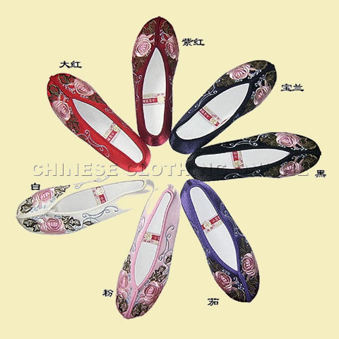 Mudan Peony Gege Embroidery Shoes (Multicolor)
