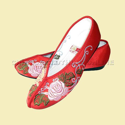 牡丹花格格繡花鞋(多色)
