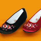 Plum Blossom Embroidery Shoes (Multicolor)