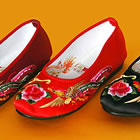 Dragon & Phoenix Embroidery Shoes (Multicolor)