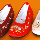 Pomegranate Flower Embroidery Shoes (Multicolor)
