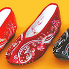 Floral Beaded Shoes (Multicolor)