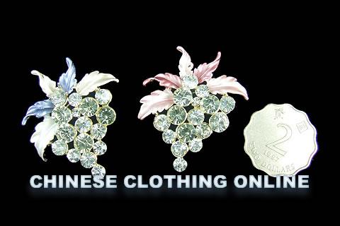 Rhinestone Floral Brooch