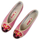 Mid Heel Chinese Opera Mask Embroidery Shoes (Multicolor)