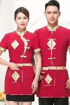 中式餐館制服-上衣(暗紅色)