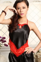 Floral Embroidery Gauze Halter Top (RM)