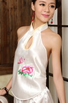 Mudang Peony Embroidery Halter Top (RM)