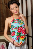 Ethnic Floral Printing Halter Top (RM)