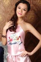 Mandarin Duck Embroidery Halter Top (RM)