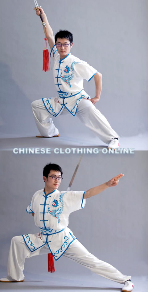 Dragon and Ethnic Embroidery 2-piece Kung Fu / Taichi Suit (CM)
