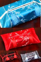Chinese Plum Blossom Embroidery Tissue Cover