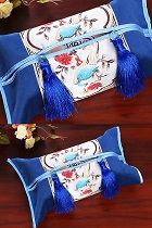 Chinese Bird/Flower Embroidery Tissue Cover
