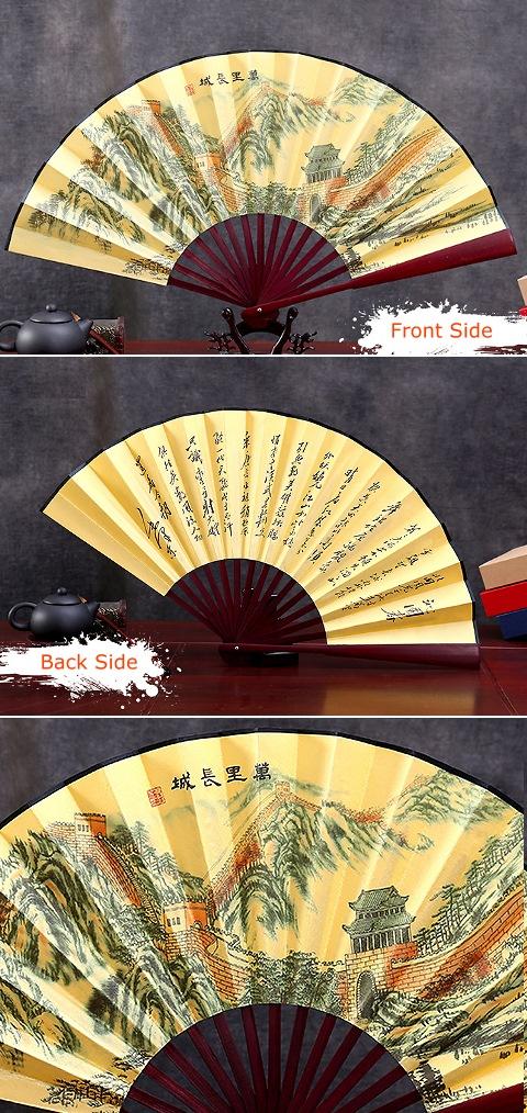 Tradition Painted Folding Fan