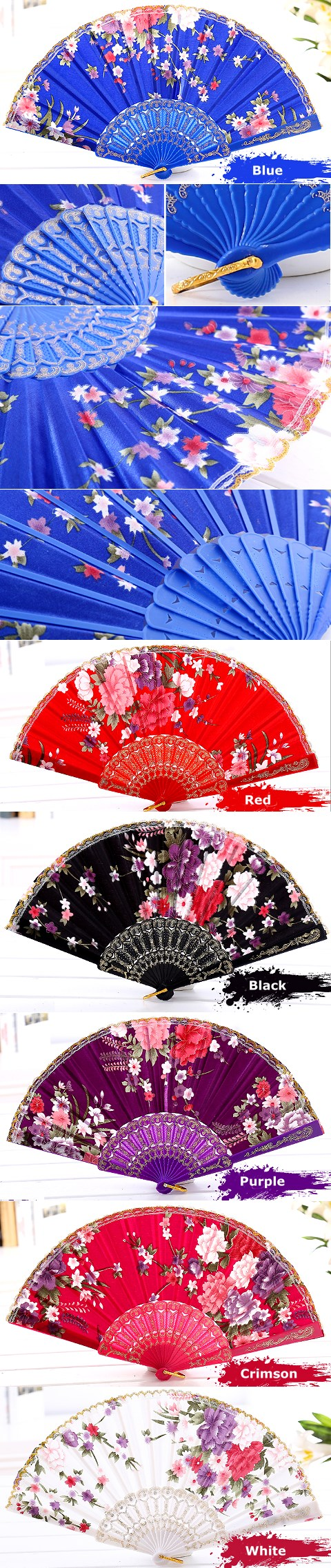 Women's Silk Folding Fan