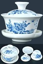 Fine Porcelain Gaiwan Teapot/Teacup
