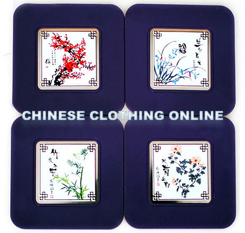 Chinese Ethnic Coaster (4 pcs)