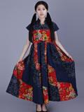 時尚民族風連衣裙