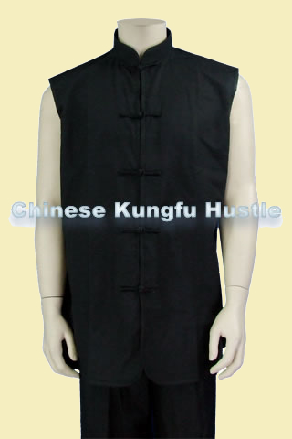Mandarin Collar Kung Fu Majia/Vest