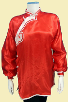 Women Inclined-lapel Xiangyun Applique Kung Fu Blouse (CM)