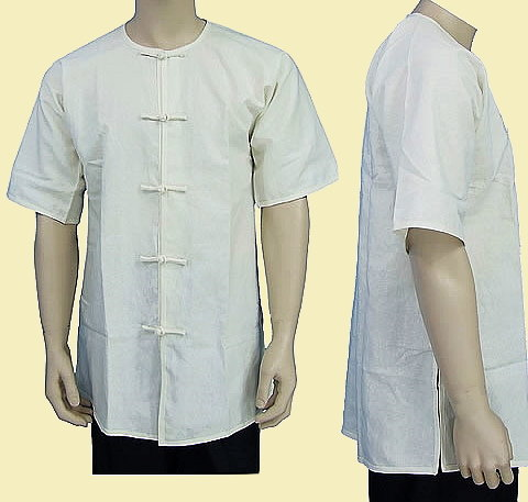 Round Collar Short-sleeve Kung Fu Shirt (CM)