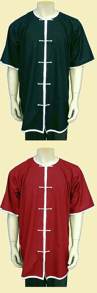 Round Collar Short-sleeve Kung Fu Shirt (CM)