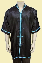 Bargain - V-collar Short-sleeve Kung Fu Shirt