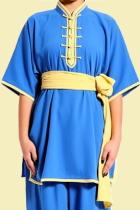 Mandarin Collar Short-sleeve Kung Fu Pullover (CM)