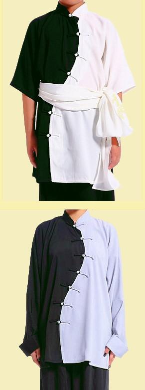 Wave-shape Lapel Dual-color Kung Fu Shirt (CM)
