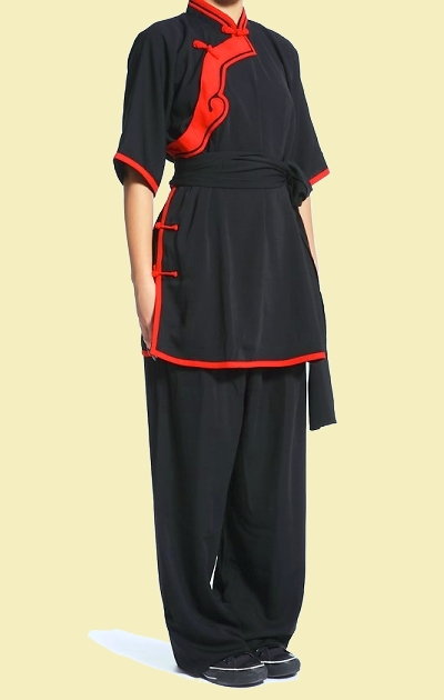 Inclined-lapel Ruyi Applique Kung Fu Suit (CM)