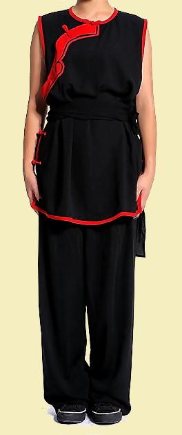 Inclined-lapel Ruyi Applique Kung Fu Vest Suit (CM)