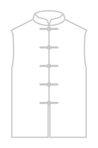 Mandarin Collar Cotton Sleeveless Underwear (CM)