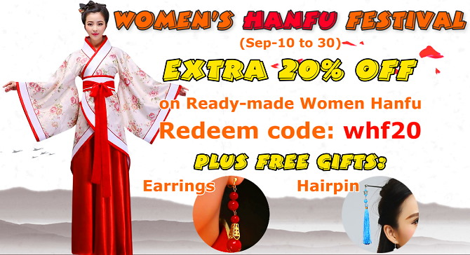 Women's Hanfu Festival EXTRA 20% OFF on top of original 5-50% other discounts