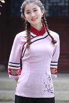 f7e8ccf2c US$26.40, Featured 3/4-sleeve Chinese Ethnic Blouse (Ready-Made)